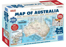 Blue Opal Jigsaw Puzzle Geographic Map Australia for Adventurers & Dreamers 1000