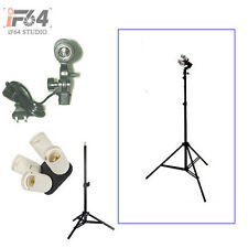 Photo Studio kit 4in1 E27 Socket + Single Lamp Bulb Holder + 220cm light stand