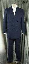 Gieves & Hawkes Double Breasted Blue Suit C44R W38 L31