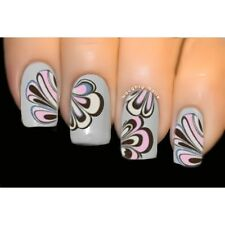 Twisted Air - MARBLED Nail Art Water Transfer Tattoo Decal Sticker BLE-1073