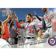 2017 TOPPS NOW #64 BRYCE HARPER GRAND SLAM AND SOLO HR FUELS 4- FOR-4 OUTBURST