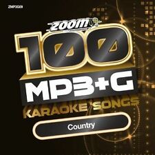 Zoom Karaoke MP3+G Disc - 100 Songs - Country (New)