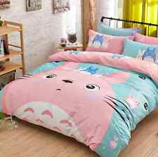 Totoro Set Bed Duvet Cover Pillowcase Studio Ghibli Queen - NEW - FREE SHIPPING
