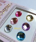 6 Pcs Home Button Stickers for Apple iPhone 6 5 4 4S 3GS iPad 1 2 3 mini Crystal