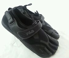 Fila Skele Toes Boys Mens Black Running Water Slip on Shoes Size 5 M Eur 37