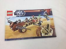 LEGO 9496 Star Wars Desert Skiff Manual ONLY  Excellent Condition