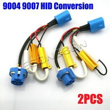 2x 9004 9007 Error Free Load Resistor Wiring Harness Adapter Conversion Kit