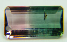 Natural Bicolor, Watermelon Tourmaline,0.78ct,4x8mm pink and green,Morro Redondo