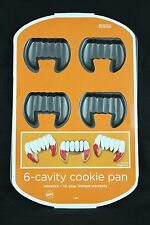 Wilton Dracula Vampire Fangs 6-Cavity Cookie NonStick Halloween Cake Pan