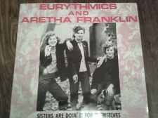 "Eurythmics And Aretha Franklin ‎– Sisters Are Doin' It For Themselves 12"" vinyl"