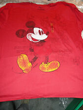 4XL How To Draw Mickey Mouse Red Disney Tee Shirt NIP