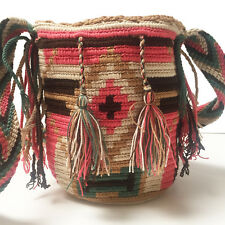 Small Mini Authentic Wayuu Bag Mochila Hand Woven #66