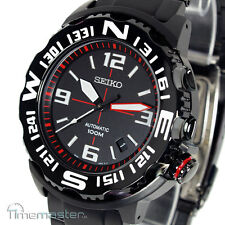 MEN'S SEIKO SUPERIOR MONSTER AUTOMATIC BLACK FACE RED MARKERS SRP447K1