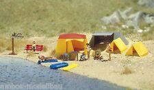 BUSCH 6026 H0 Campingzelte, Ein kleiner Campingplatz, Bausatz, Neu