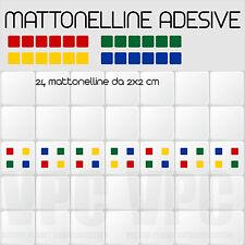 24 mattonelle adesive per piastrelle muri vetri mensole 4 colori a scelta