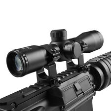 Tactical 4X32 Riflescope Compact .223 .308 Mil Dot Ret. Scope w/ 20mm Mount Ring
