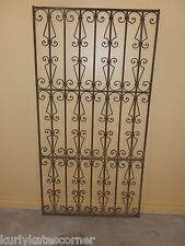 VERY NICE  ANTIQUE 100+ YEAR OLD FRENCH WROUGHT IRON GATE  * HEADBOARD *