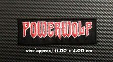 Powerwolf Sew On Patch Iron Embroidered Rock Band Heavy Power Metal Music Logo