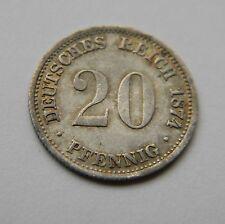 KAISERREICH: 20 Pfennig 1874 G, J. 5, vorzüglich