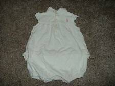 Ralph Lauren White Lace Ruffle Summer Romper Outfit Size 6M 6 months Baby Girls