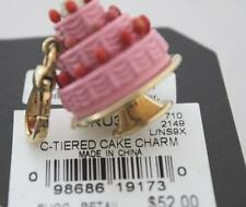 NWT Juicy Couture PINK 3 TIERED Layers CAKE w/ Cherries Gold Charm Tagged Box