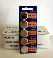 100 pc SONY CR2025 CR 2025 3V Lithium Batteries Expire 2026 (100 Coin Cells)