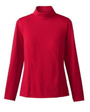 Coldwater Creek Ladies Princess seam Regal Red turtleneck  Small (6-8) NWT