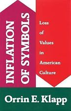 Inflation of Symbols: Loss of Values in American Culture, , Klapp, Orrin E., Exc