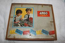 Vintage Lego System set in original wooden box. Approx 500 pieces. 1960s