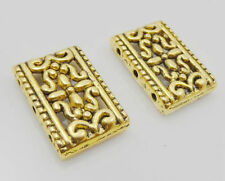 Free Ship 10Pcs Gold Plated 3 Hole Connectors Spacer Beads Fit Bracelet 28x12mm