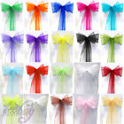 WEDDING BANQUET SASH CHAIR COVER ORGANZA BOW SASHES ANNIVERSARY PARTY DECORATION