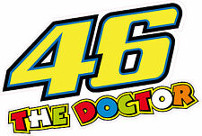 46 The Doctor Valentino Rossi 175mm Sticker Decal Quality Printed Vinyl Label