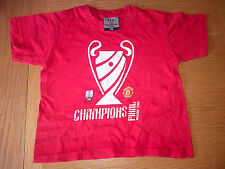 Manchester United Football Champions League Final MOSCOW 2008 TShirt BOYS Small