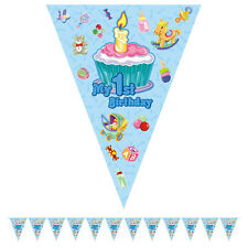 3.5M Happy 1st First Birthday Boy & Girl  Party Foil Pennant Flag Banner Bunting