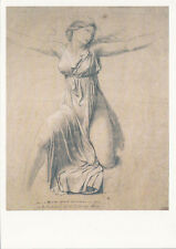 Postcard Art French Drawings Jacques Louis David Study of a Female Figure