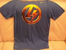 """NEW WT MEN'S NIKE ATHLETIC DRI-FIT COTTON T-SHIRT SMALL TOP """"LIVE STRONG"""" BLUE"""