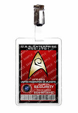 Star trek division de la sécurité starfleet badge d'identification cosplay prop costume comique avec