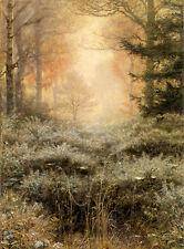 Oil painting Sir John Everett Millais  - Dew-Drenched Furze nice landscape 36""