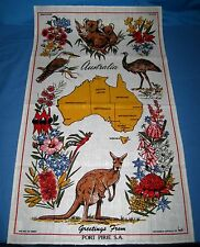 "VTG Linen/Cotton Australia Port Pirie SA TEA TOWEL by Heil NEW 18""X31""!"