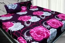 ValueX 3D Print Poly Cotton Double Bed Sheet With 2 Pillow Covers