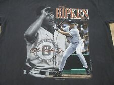 vintage 90s CAL RIPKEN JR. BALTIMORE ORIOLES FADED T-Shirt XL baseball mlb soft