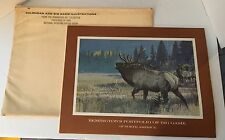 REMINGTON ARMS Big Game Portfolio Illustrations 12 Prints Lithographs