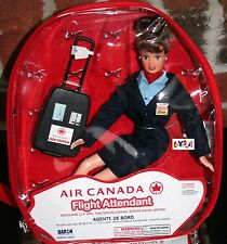 Flight Attendant Doll Air Canada w/ backpack & Accessories Brunette New
