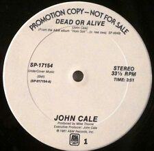 """JOHN CALE    """"Honi Soit""""/""""DOA""""    1981 US promo 12""""  MINT-!"""
