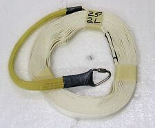 """9/16"""" Nylon High Power Rocketry Recovery Harnes 2 Sewn Loops, 1 Ft Kevlar Sleeve"""
