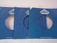 3- BOARDWALK BLUE RECORD COMPANY 45's SLEEVES  LOT # A-313