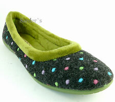 Hush Puppies Ballerina 42 Spain Made Damen Schuh 41 Slipper Grau Oliv Bequem NEU