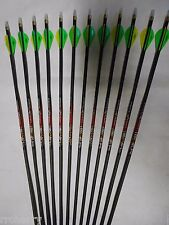 "12 Carbon Express ""The Crush"" 250 Carbon Hunting Arrows!  WILL CUT TO LENGTH!"