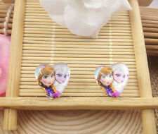 Hot  1 pair Frozen Princess Elsa Anna Earrings fashion Jewelry  Gifts K4 YU