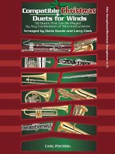Compatible Christmas Duets For Winds Alto Saxophone Baritone Play Sax Music Book